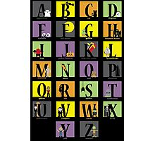 Halloween Alphabet Photographic Print