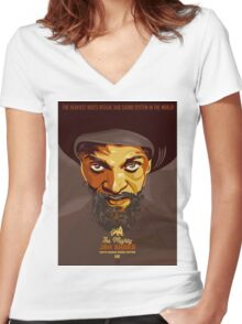 The Mighty Jah Shaka Women's Fitted V-Neck T-Shirt