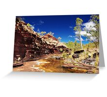 Kalamina Gorge Greeting Card