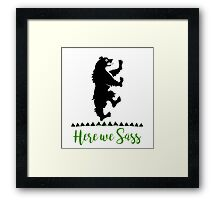 Lyanna Mormont - House Mormont - Here We Sass shirt Framed Print