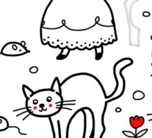 Cats pattern Sticker