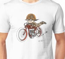 MOTORCYCLE EXCELSIOR STYLE (RED BIKE) Unisex T-Shirt