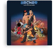 Archer the spy who loved him self Canvas Print