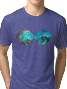 Green Galaxy Mermaid Tri-blend T-Shirt