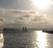 Boat Docked - San Diego Sticker