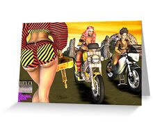 The Motorcycle Race War... Greeting Card
