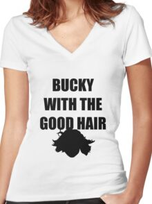 BUCKY WITH THE GOOD HAIR Women's Fitted V-Neck T-Shirt