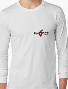 Raw Guyz Logo Text Long Sleeve T-Shirt