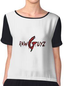 Raw Guyz Logo Text Chiffon Top