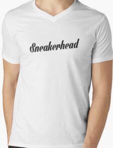 Sneakerhead Script - Black Mens V-Neck T-Shirt