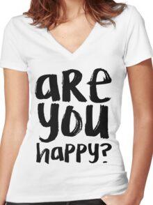 Bo Burnham - Are You Happy? Women's Fitted V-Neck T-Shirt