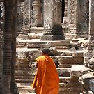 Monk in Angkor Wat by Glen Ladegaard AUSTRALIA