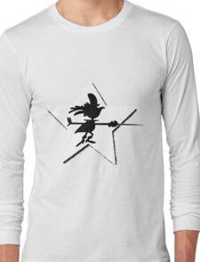 Super Chicken silhouette Long Sleeve T-Shirt