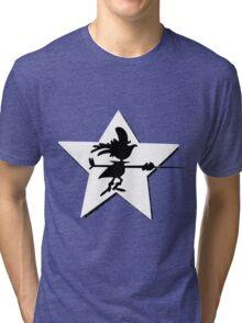 Super Chicken silhouette Tri-blend T-Shirt