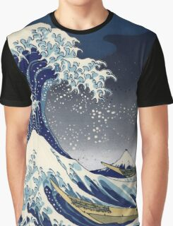 Great Wave: Kanagawa Night Graphic T-Shirt