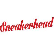 Sneakerhead Script - Red Photographic Print