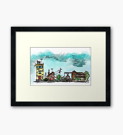Urban Sketching Doodle 01 Framed Print