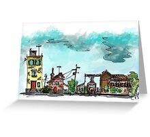 Urban Sketching Doodle 01 Greeting Card