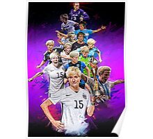 Megan Rapinoe (Pinoe) From University of Portland to Seattle Reign + National Team Poster