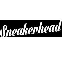 Sneakerhead Script - White Photographic Print