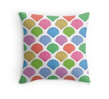 Seashells colorful pattern Throw Pillow