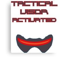 Tactical visor activated Canvas Print