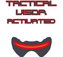 Tactical visor activated Photographic Print