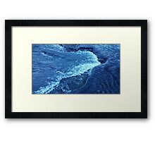 Ice Crystal Wave Framed Print