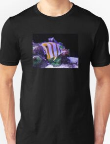 Yellow and White Butterfly Fish Unisex T-Shirt