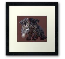 Miniature Schnauzer Buddies Framed Print