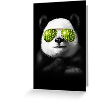 cool panda Greeting Card
