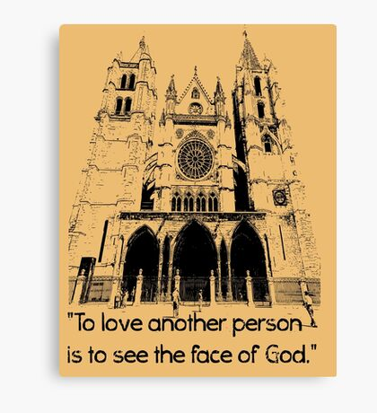 To love another person is Canvas Print