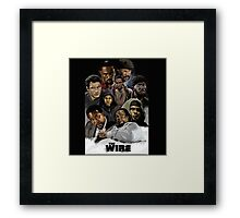 The wire characters Framed Print