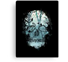 Dark Forest Skull Canvas Print