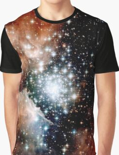 Red Galaxy Graphic T-Shirt