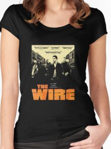 The wire TV series Women's Fitted Scoop T-Shirt