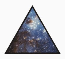 Blue Galaxy Triangle Baby Tee
