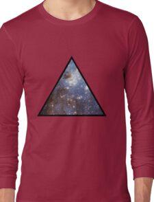 Blue Galaxy Triangle Long Sleeve T-Shirt