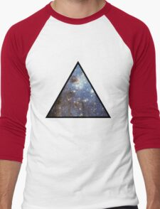 Blue Galaxy Triangle Men's Baseball ¾ T-Shirt