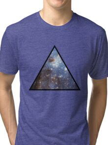 Blue Galaxy Triangle Tri-blend T-Shirt