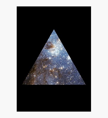 Blue Galaxy Triangle Photographic Print