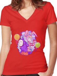Popee & Kedamono Women's Fitted V-Neck T-Shirt