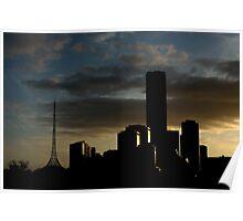 Southbank Sunset Poster