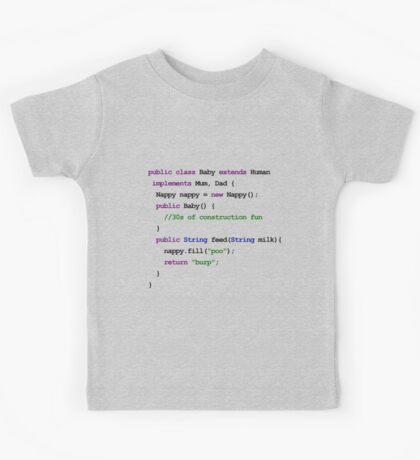 Java Code New Baby - implements Mum, Dad Kids Tee