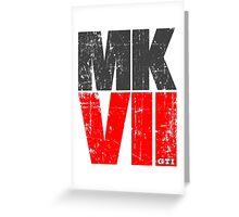Golf MKVII GTI Design Greeting Card