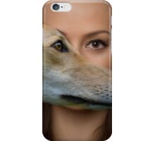 The eyes of a woman iPhone Case/Skin