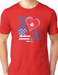 I Heart NOLA (Red White & Blue) Unisex T-Shirt