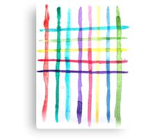 'Between the Lines' Watercolour Pattern Canvas Print