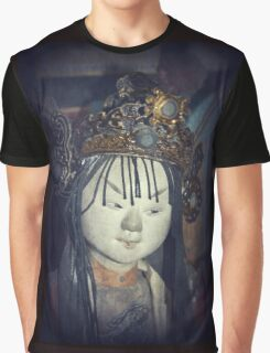 Traditional Wooden Chinese Doll Graphic T-Shirt