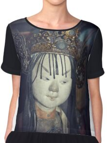 Traditional Wooden Chinese Doll Chiffon Top